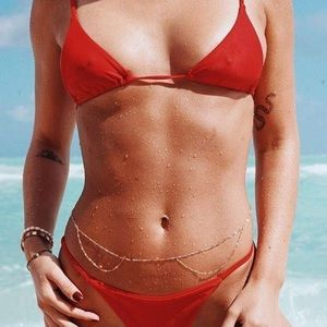 NWOT Red Mini Bikini Top